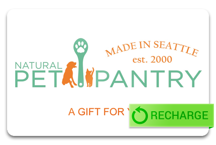 Recharge your Natural Pet Pantry Card
